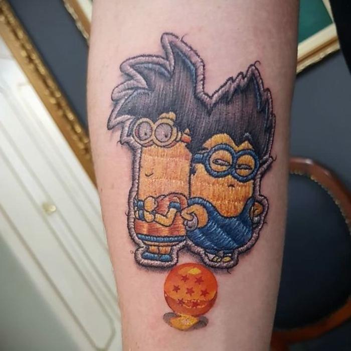 tatouage broderie imitation