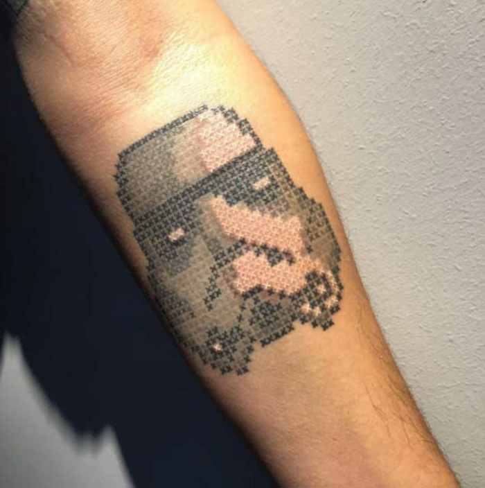 tatouage broderie star wars idée