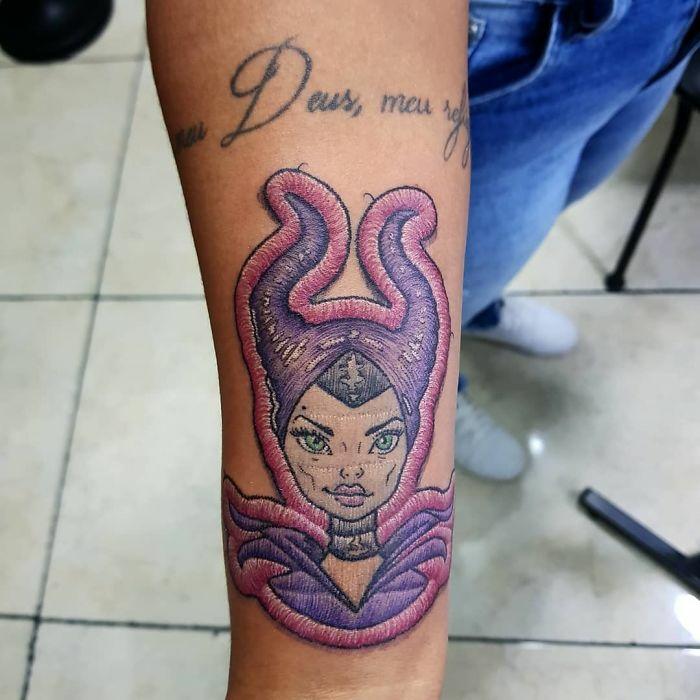tendance tatouage broderie 2019