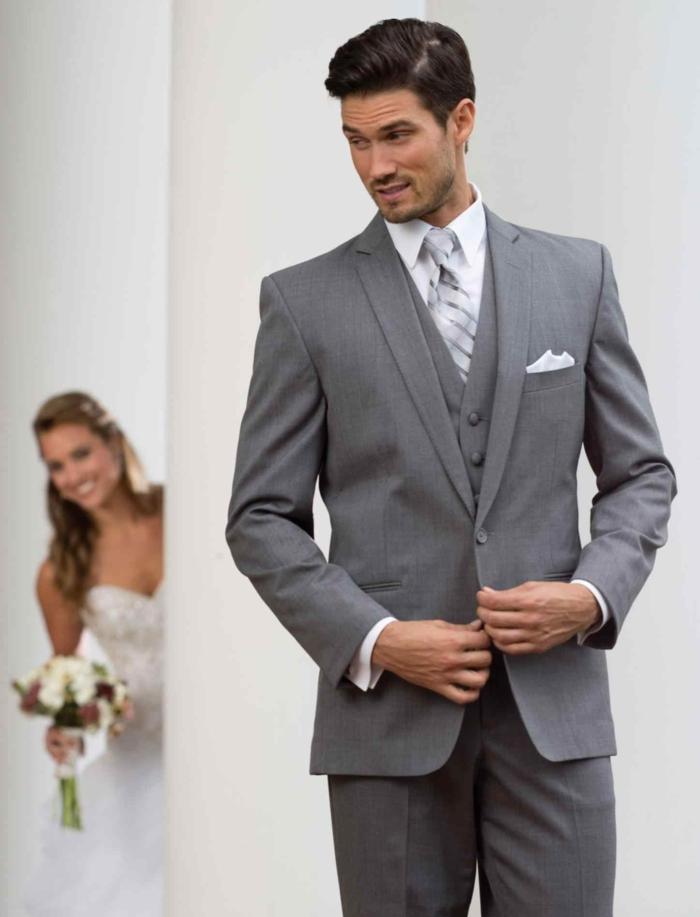 tenue mariage homme en gris idée