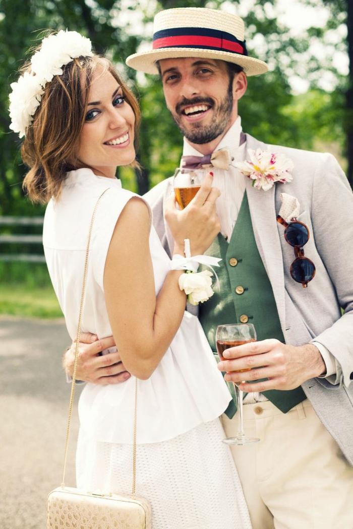 tenue mariage homme proposition avec chapeau