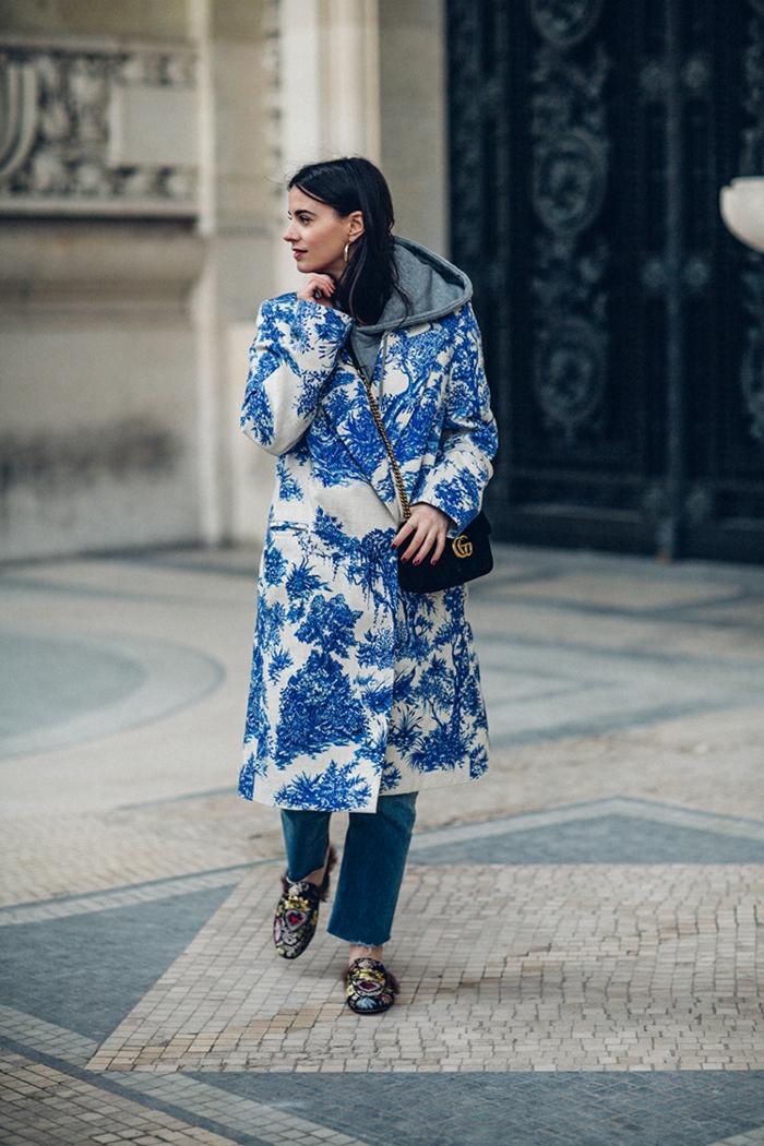toile de jouy manteau