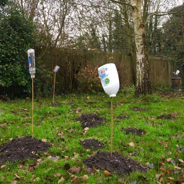 12 astuces malignes pour chasser les taupes du jardin au naturel bouteille en plastique
