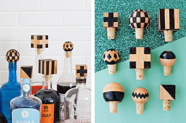 Cadeau Fête des Pères DIY - idées créatives pour enfants et mamans bouchons de bouteilles décorés