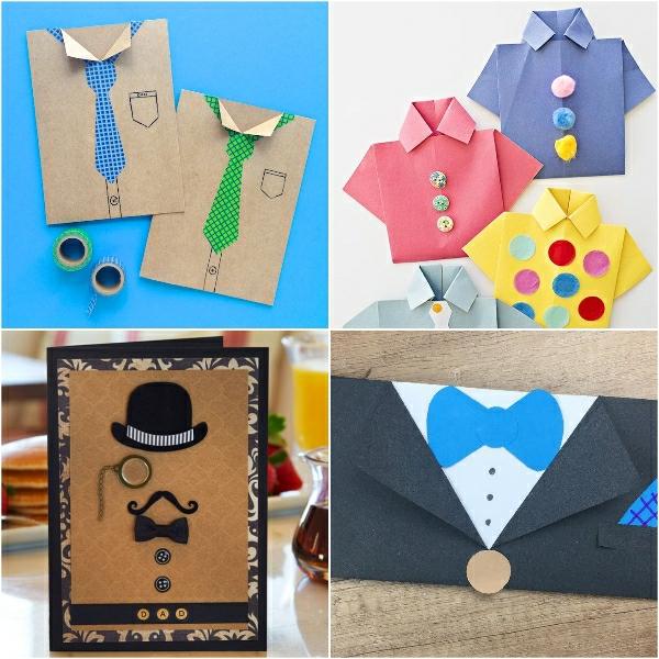 Cadeau Fête des Pères DIY - idées créatives pour enfants et mamans cartes en carton