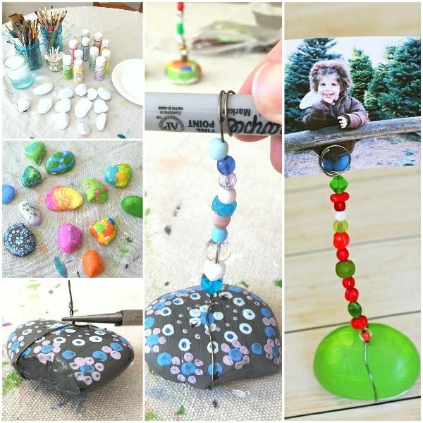 Cadeau Fête des Pères DIY - idées créatives pour enfants et mamans porte-photo pince