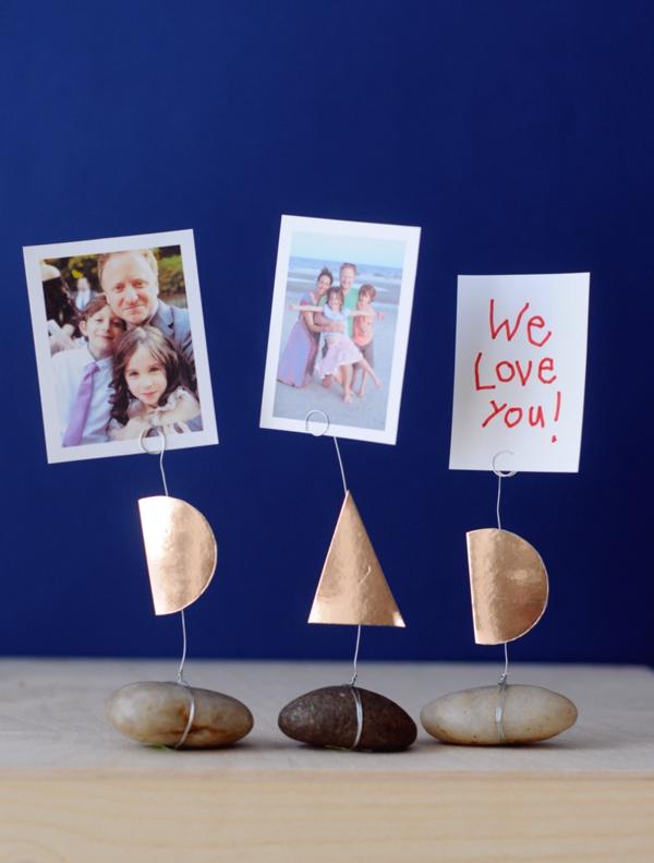 Cadeau Fête des Pères DIY - idées créatives pour enfants et mamans porte-photo
