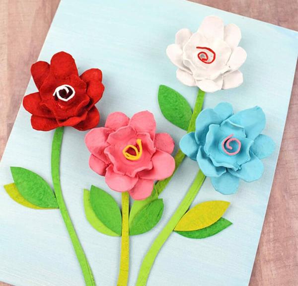 Carte Fête des Mères originale à fabriquer vous-même bouquer de fleurs