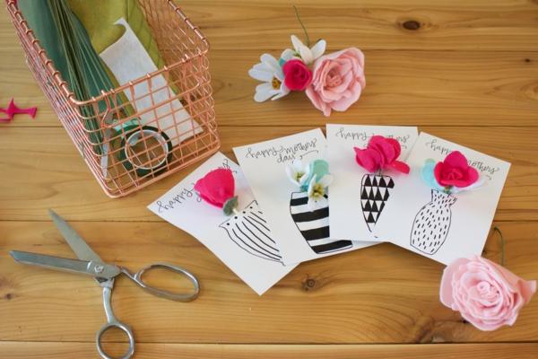 Carte Fête des Mères originale à fabriquer vous-même carton tissu