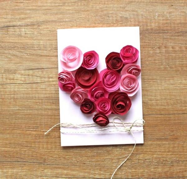 Carte Fête des Mères originale à fabriquer vous-même roses en papier