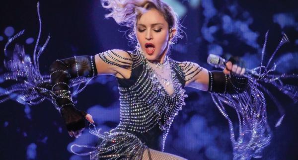 Madonna paillettes et perles