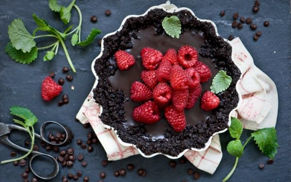 Recette framboisier facile à préparer chocolat noir