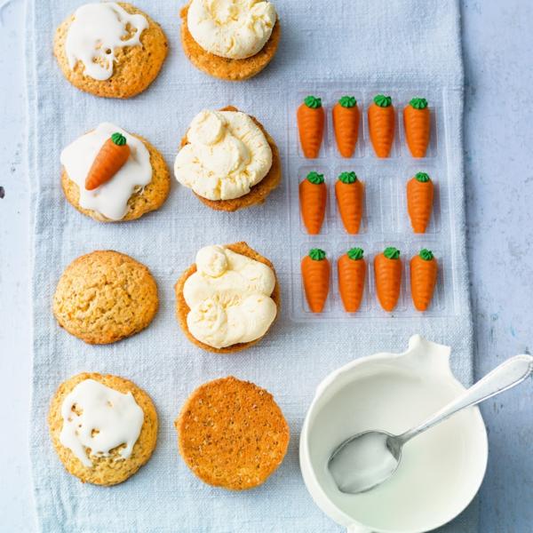 Recette whoopies - préparer les gâteaux sandwiches à la crème moelleuse whoopies aux carottes printemps