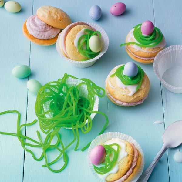 Recette whoopies - préparer les gâteaux sandwiches à la crème moelleuse whoopies nids d'oiseaux pâques