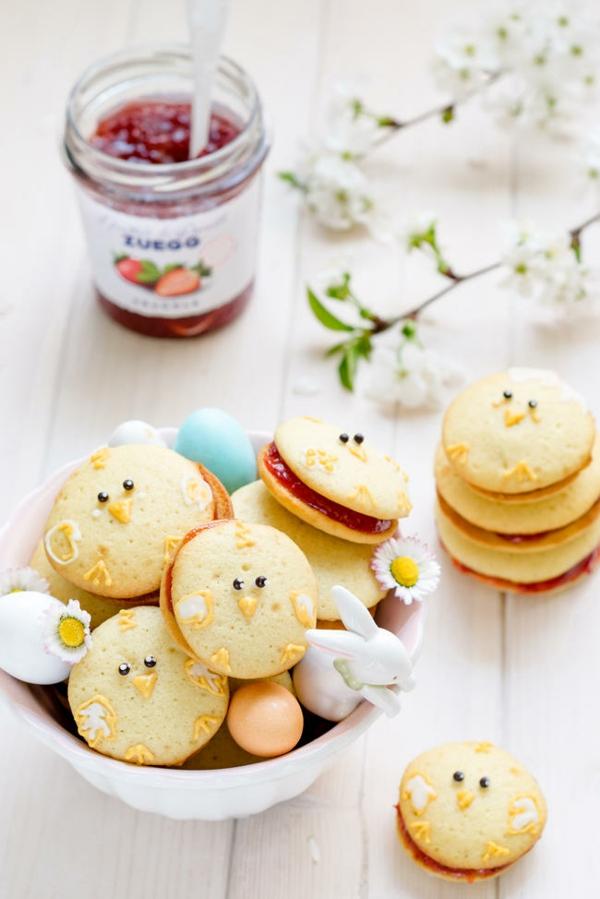 Recette whoopies - préparer les gâteaux sandwiches à la crème moelleuse whoopies poussins de pâques