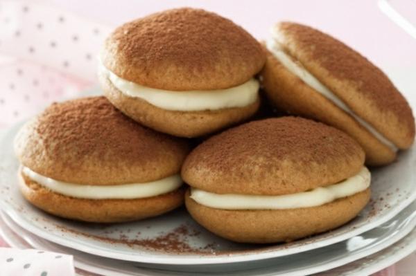 Recette whoopies - préparer les gâteaux sandwiches à la crème moelleuse whoopies saveur cappuccino
