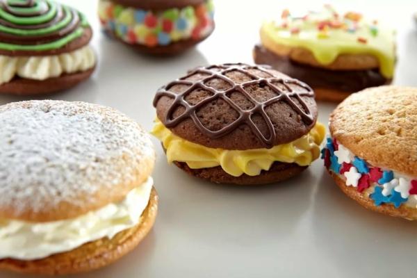 Recette whoopies - préparer les gâteaux sandwiches à la crème moelleuse whoopies variations de crème