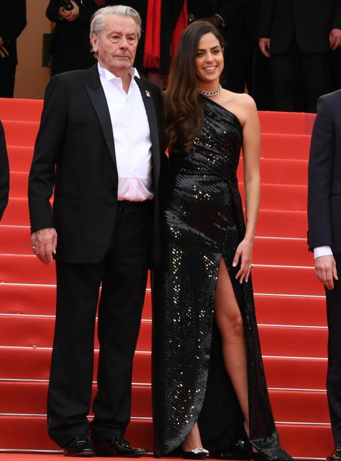 alain delon cannes 2019 avec sa fille Anouchka Delon