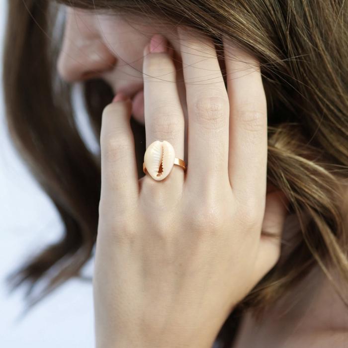 bague tendance bijoux coquillage