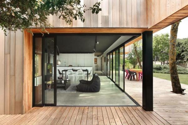 baie vitrée coulissante à galandage installation