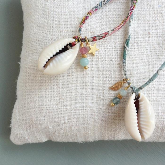 bijoux coquillage diy activité créative