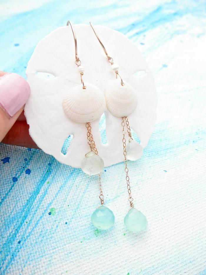 boucles d'oreilles bijoux coquillage