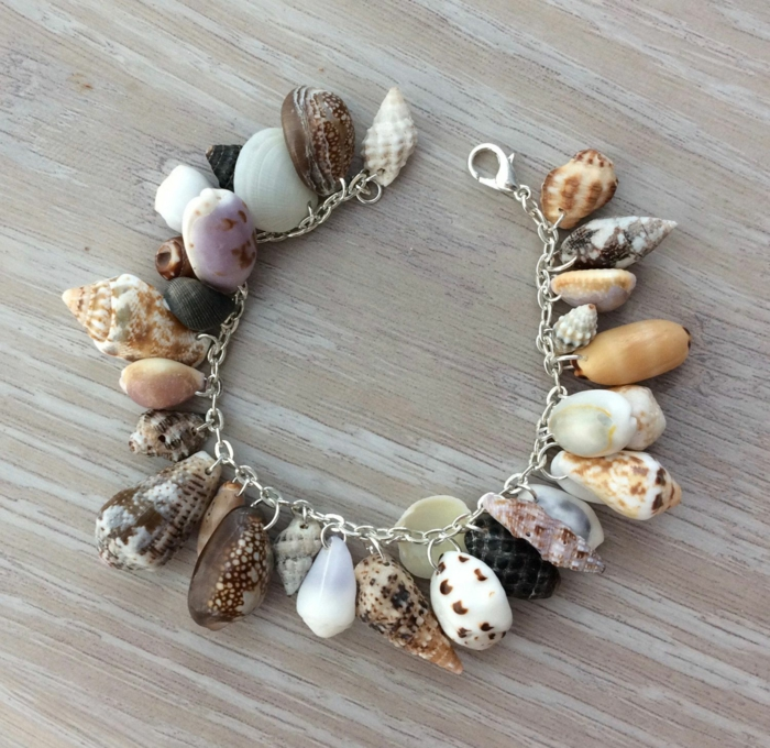 bracelet chaîne bijoux coquillage