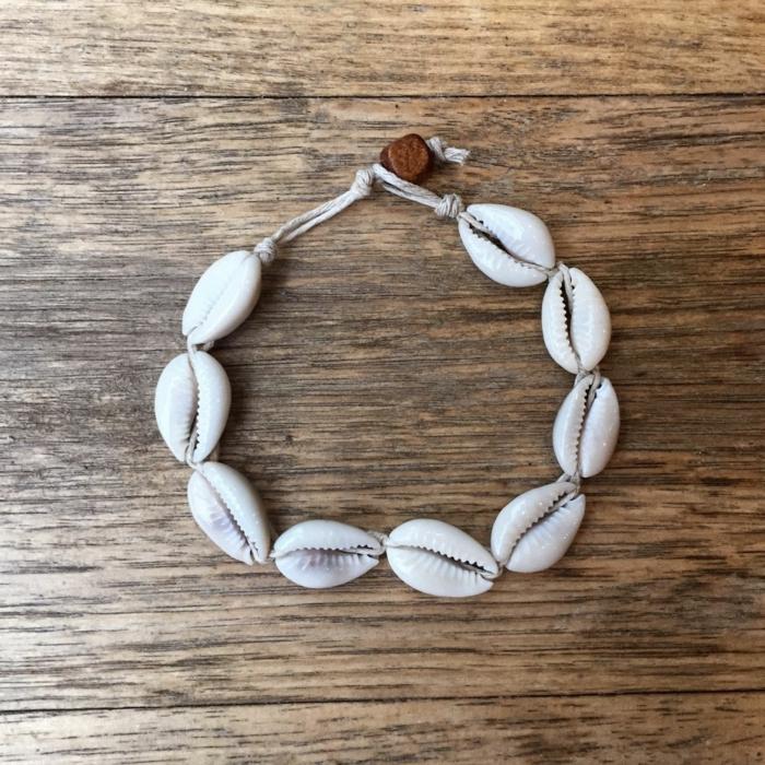 bracelet facile à faire bijoux coquillage