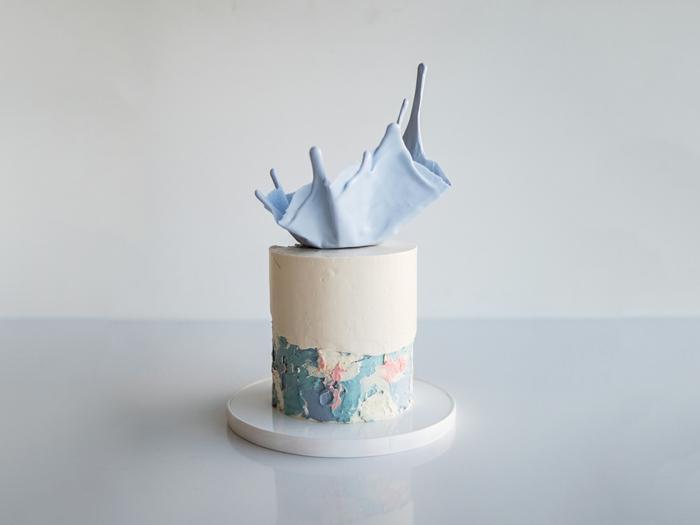 brushstroke cake gâteau de mariage inspiration