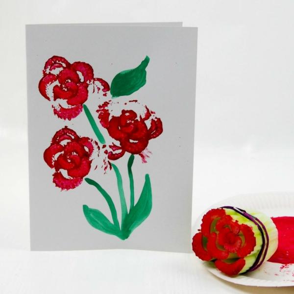 carte fêtes de mères personnalisée pop up fleurs diy