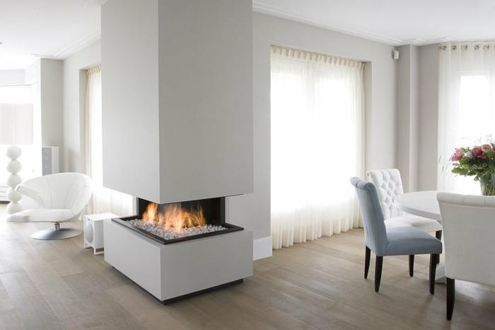 chauffage au gaz cheminée moderne