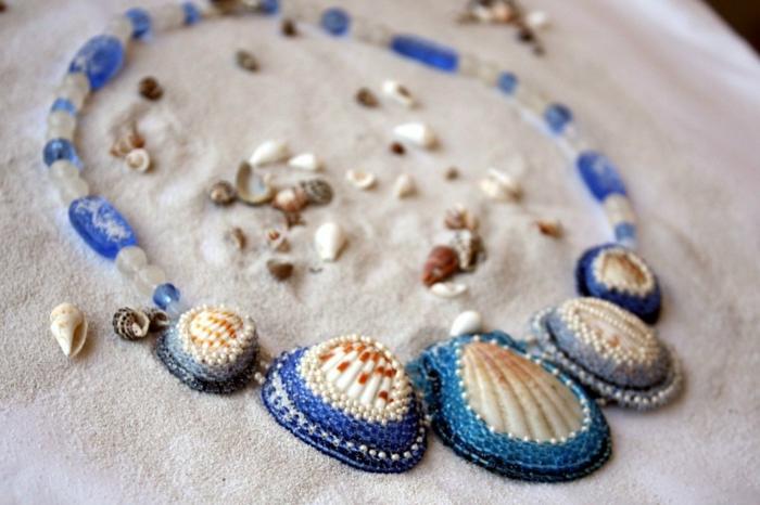 collier aux perles idée bijoux coquillage