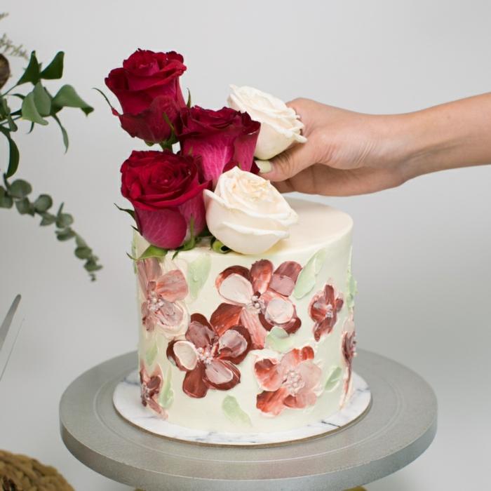 crème au beurre brushstroke cake gâteau de mariage