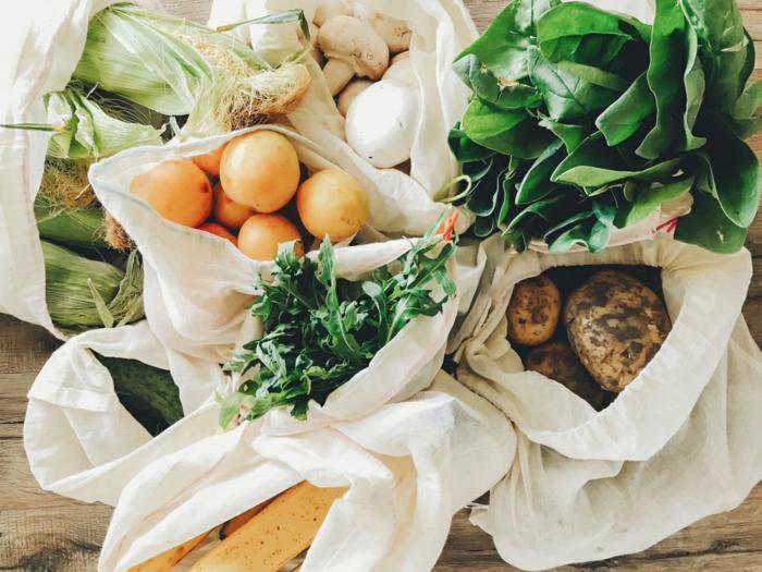 cuisine zéro déchet sac en tissu