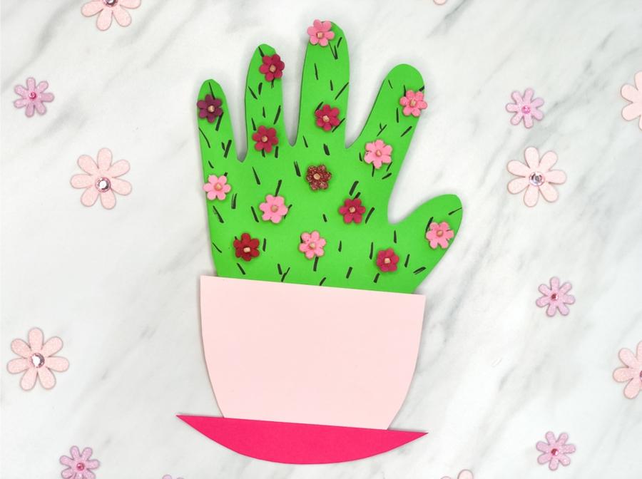diy carte fête des mères cactus carton