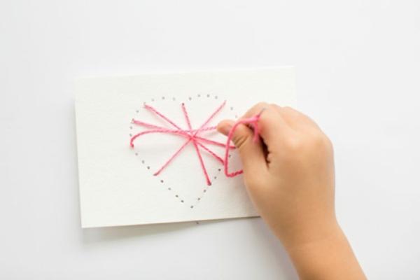 diy carte fête des mères personnalisé fil tendu