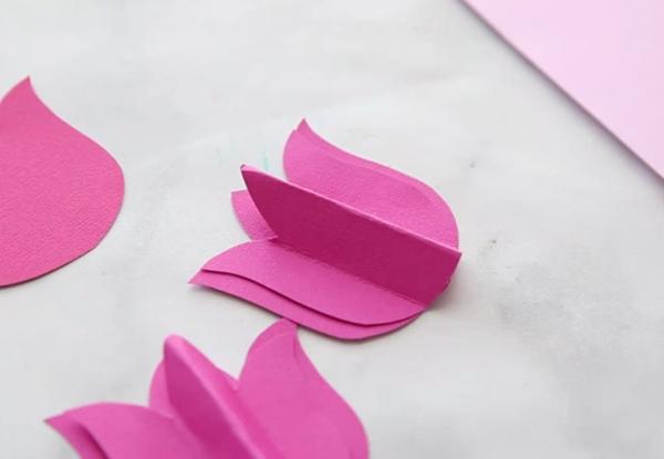 diy carte fête des mères personnalisée tulipes en carton