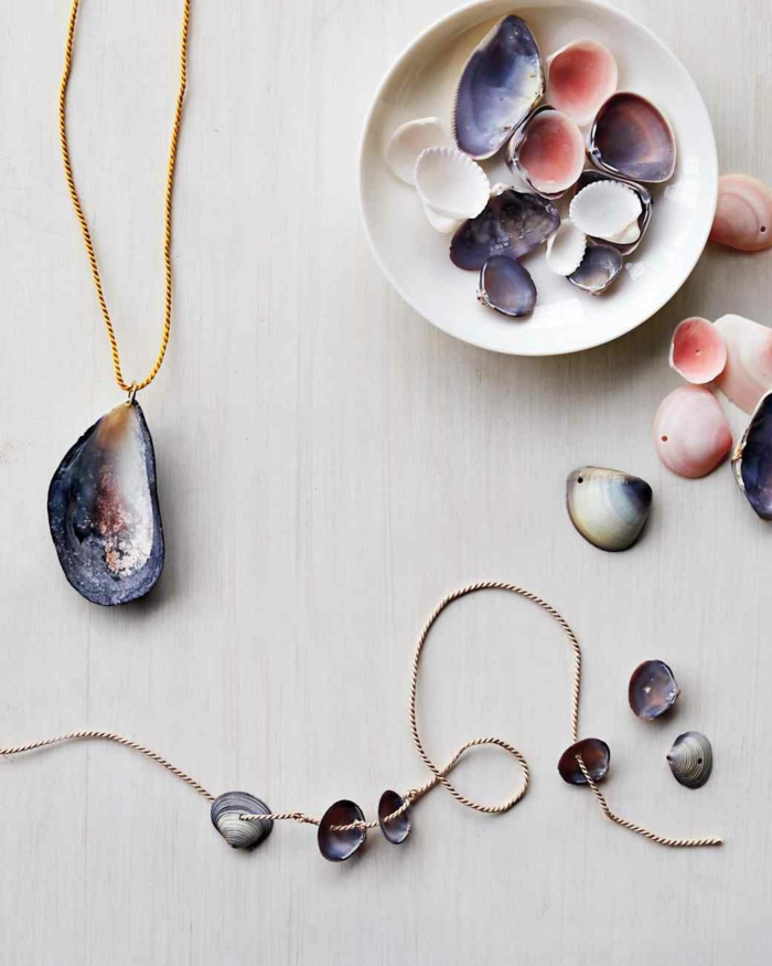 diy proposition bijoux coquillage