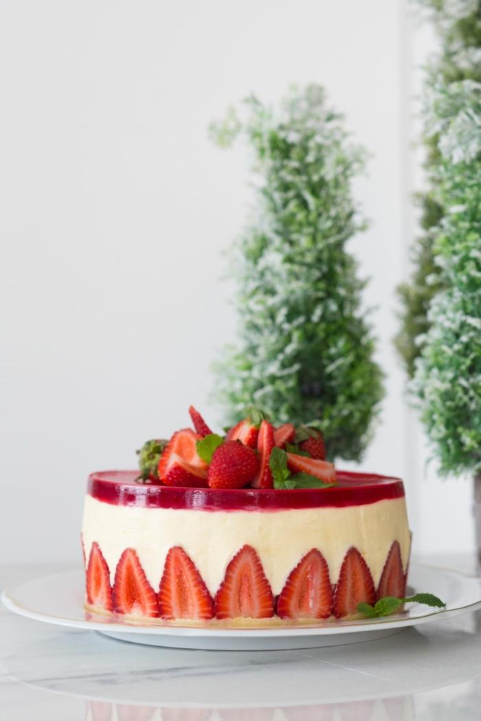diy recette fraisier idée