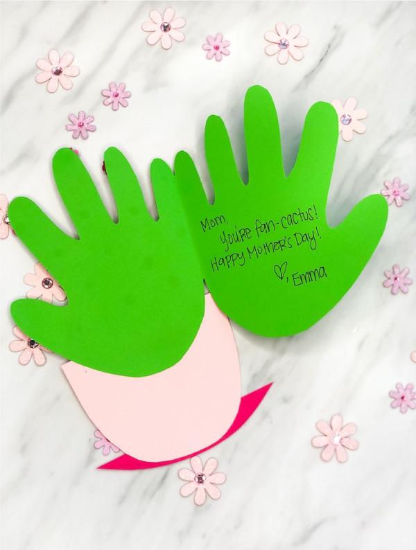 fabriquer carte fête des mères personnalisée cactus