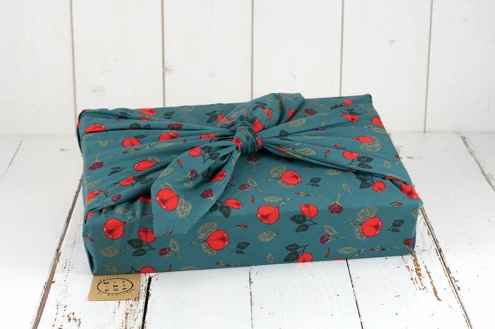 furoshiki emballage en tissu cuisine zéro déchet