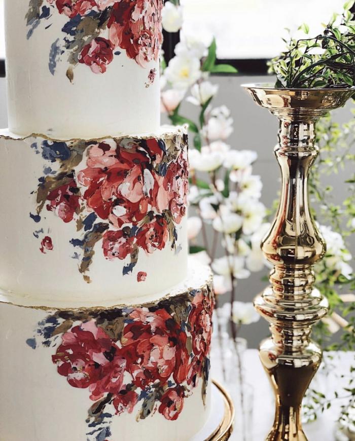 gâteau de mariage décoration crème au beurre