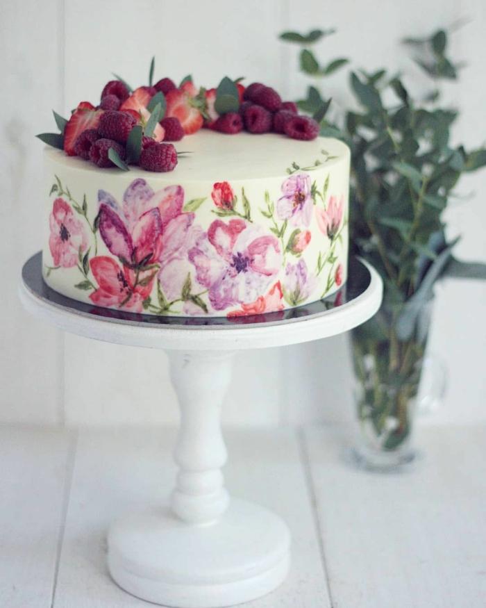 gâteau de mariage peint à la main 1