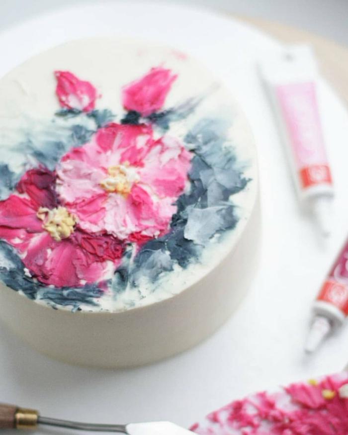 gâteau de mariage peint à la main 2