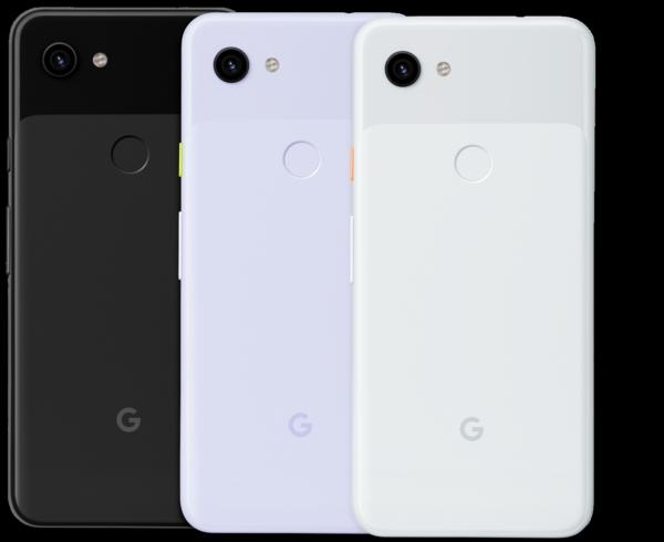 google pixel 3a couleur blanc noir et purple-ish