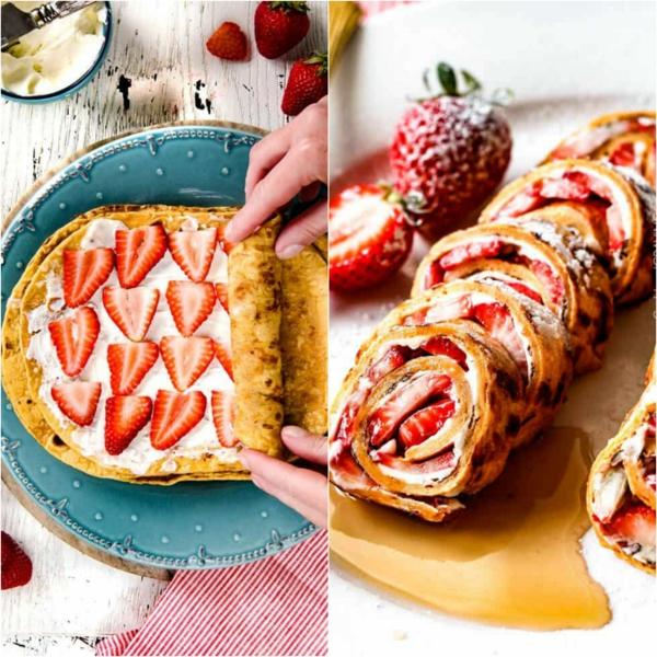 idée Wrap apéro aux fraises