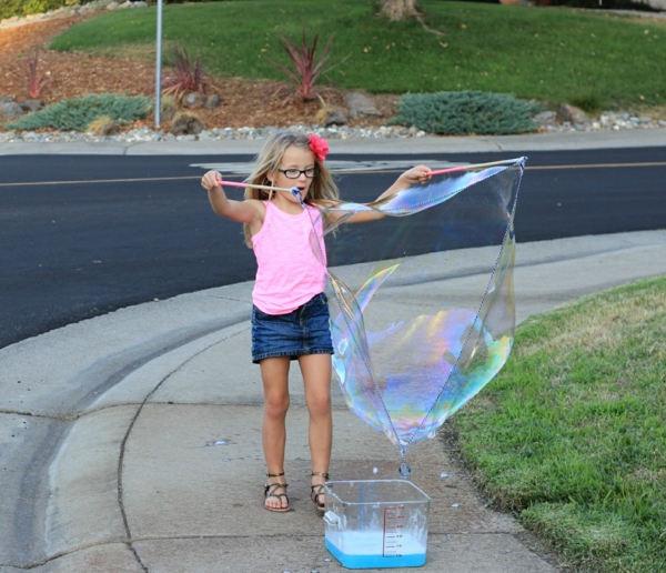 idée de jeu en plein air recette bulles de savon