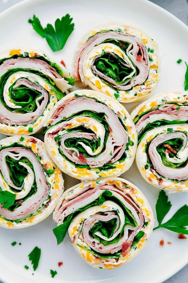 idée wrap apéro dinde bacon persil cheddar mayonnaise