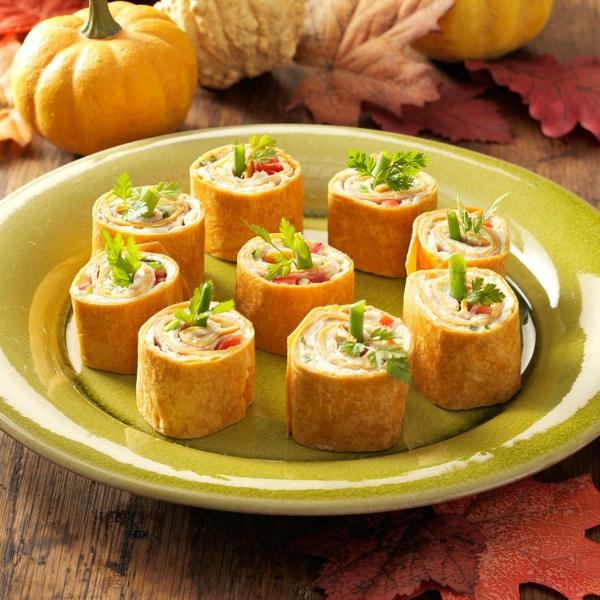 idée wrap apéro fromage crème gousse d'ail poudre de curry moutarde tomate poivron rouge oignons verts jambon cuit