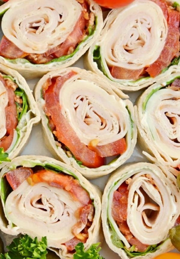 idée wrap apéro laitue jambon tomate mayonnaise